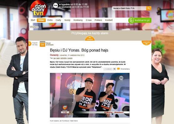 Bęsiu and Dj Yonas. God over money - Good morning TVN