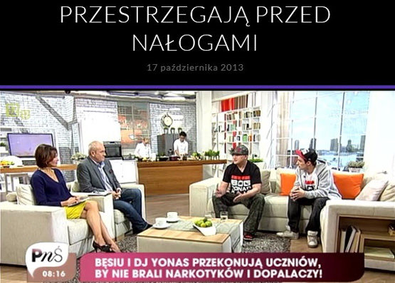 Besiu and DJ Yonas, Christian rappers in a National Polish TV